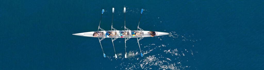 Vierer-Ruderboot